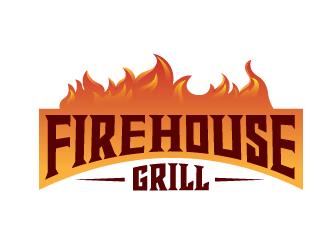 Firehouse Grill logo design by grea8design