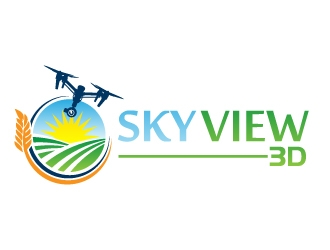 Sky View 3D logo design