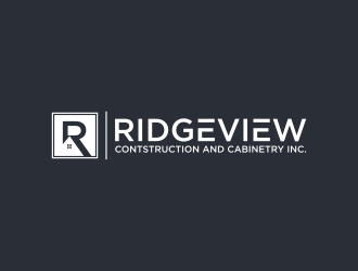 Ridgeview Contstruction and Cabinetry Inc. logo design