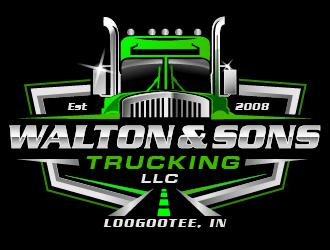 Walton & Sons Trucking LLC logo design winner
