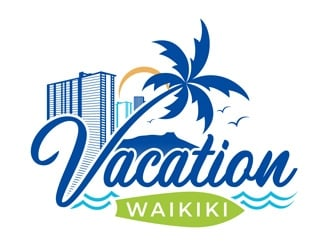 Vacation-Waikiki logo design
