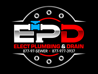 Elect Plumbing and Drain logo design