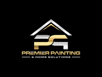 Premier Painting & Home Solutions logo design