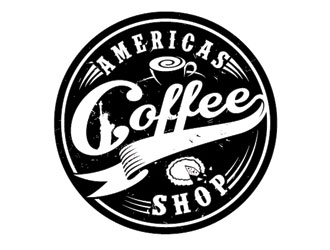 Americas Coffee Shop logo design