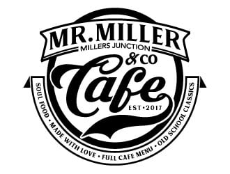 Mr Miller & Co Cafe logo design