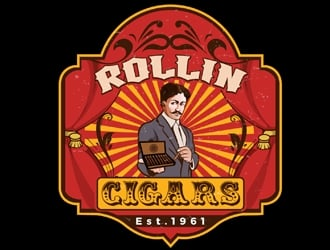 RollinCigars logo design