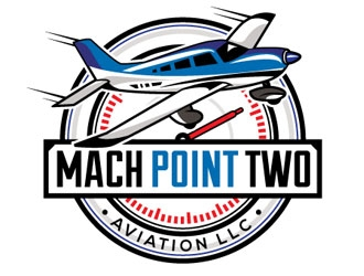 Mach Point Two Aviation LLC logo design