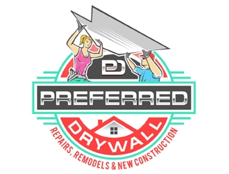 Preferred Drywall logo design winner