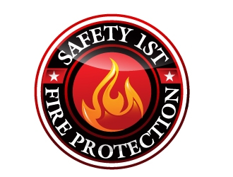 SAFETY 1ST FIRE PROTECTION logo design