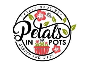 Petals In Pots logo design