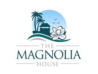The Magnolia House logo design