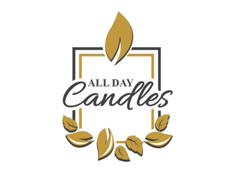 All Day Candles logo design