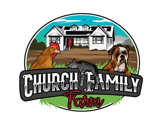 Church Family Farm logo design