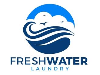 Freshwater Laundry logo design