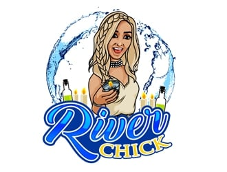 River Chick logo design