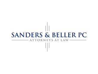 Sanders & Beller PC Attorneys at Law logo design by alby