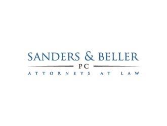Sanders & Beller PC Attorneys at Law logo design by maserik
