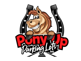 Pony Up Parking Lots, Inc logo design