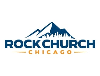 Rock Church Chicago logo design