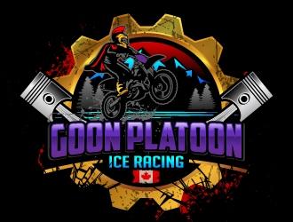 Goon Platoon Ice Racing logo design winner