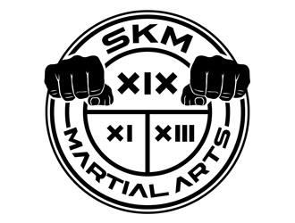 SKM MARTIAL ARTS logo design by CreativeMania