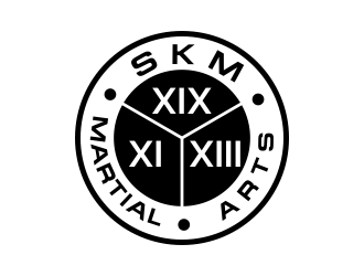 SKM MARTIAL ARTS logo design by kopipanas