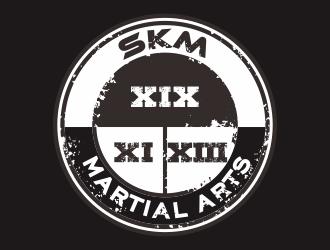 SKM MARTIAL ARTS logo design by YONK