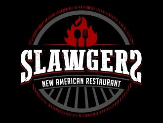 SLAWGERS New American Restaurant logo design