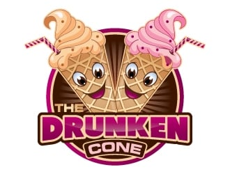 The Drunken Cone logo design