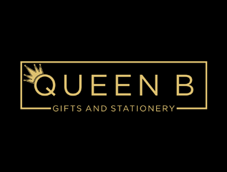 Queen B Gifts and Stationery  logo design