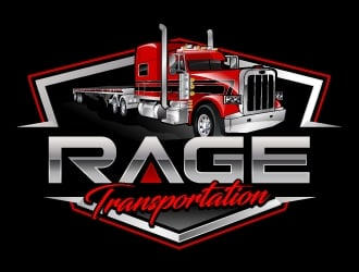 Rage Transportation logo design