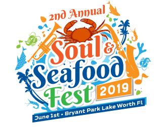 Soul & Seafood Fest 2019 logo design
