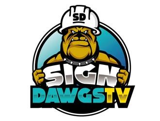 SignDawgsTV logo design
