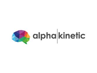 AlphaKinetic logo design