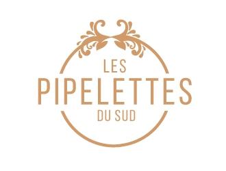 Les pipelettes du sud logo design
