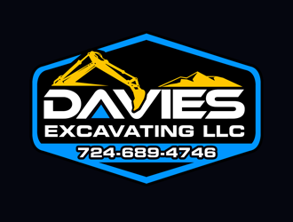 Davies Excavating LLC logo design