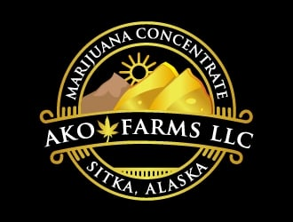 AKO FARMS LLC logo design