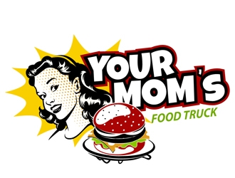 Your Moms Food Truck logo design