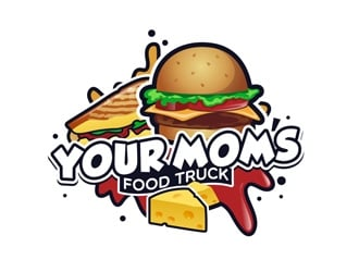 Your Moms Food Truck logo design by DreamLogoDesign