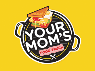 Your Moms Food Truck logo design by logolady