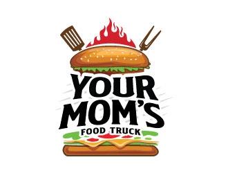 Your Moms Food Truck logo design by sanworks