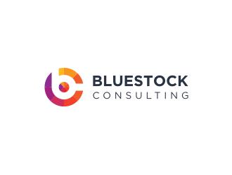 Bluestock Consulting logo design