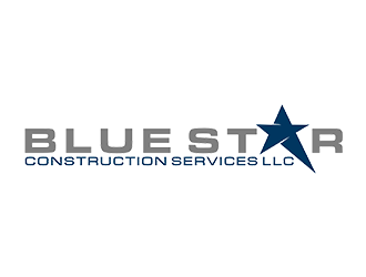 Blue Star Construction Services LLC logo design