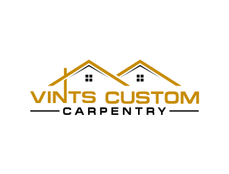 Vints Custom Carpentry logo design