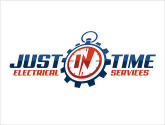 Just In Time Electrical Services logo design