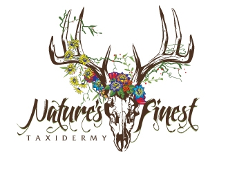 Natures Finest Taxidermy logo design