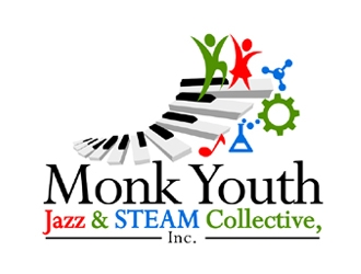 Monk Youth Jazz and STEAM Collective, Inc. logo design
