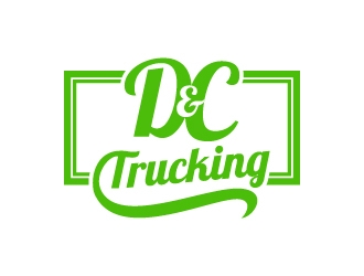 D&C Trucking logo design