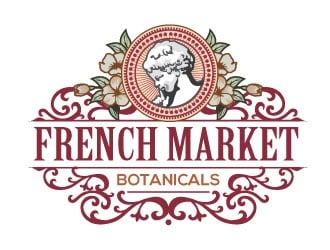 French Market Botanicals logo design