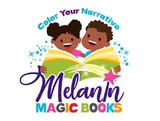 Melanin Magic Books logo design